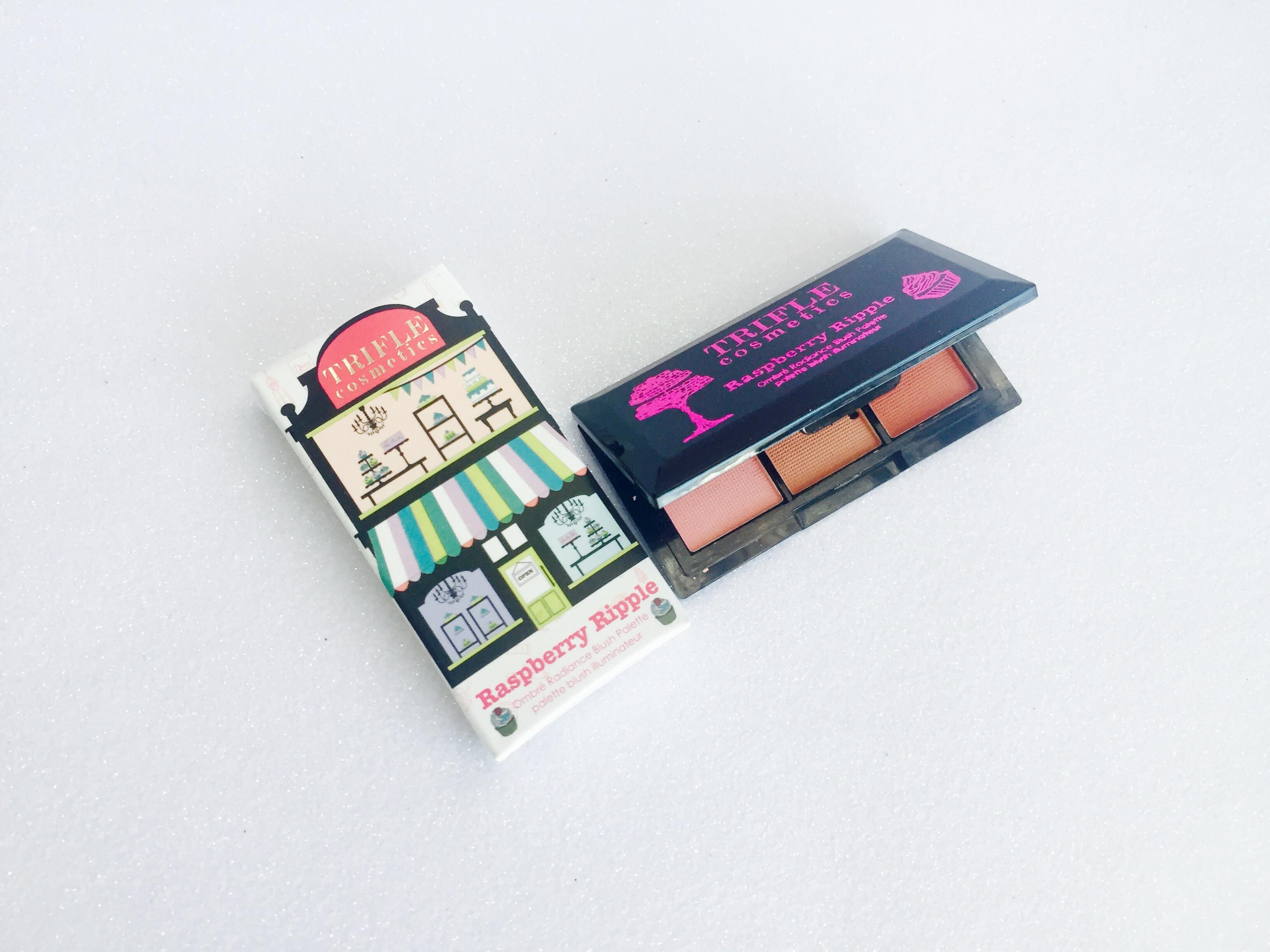 Trifle Cosmetics Raspberry Ripple - Ombré Radiance Blush Palette